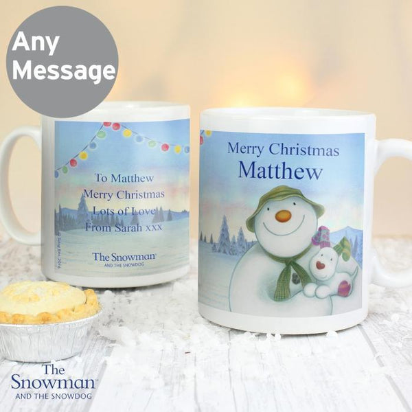 Personalised The Snowman and the Snowdog Mug-OurPersonalisedGifts.com