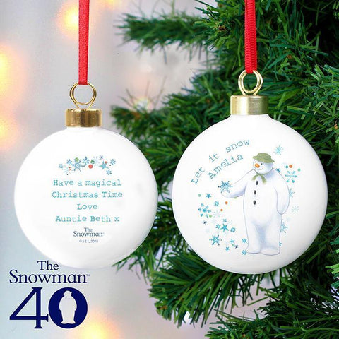 Personalised The Snowman Let it Snow Bauble-OurPersonalisedGifts.com