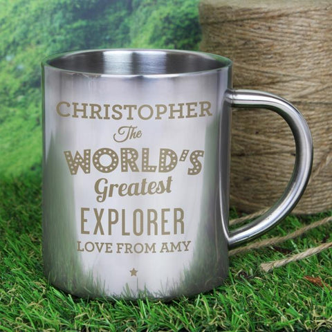 Personalised The World's Greatest Stainless Steel Mug-OurPersonalisedGifts.com