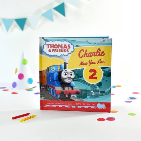 Personalised Thomas the Tank Engine Birthday Book-OurPersonalisedGifts.com