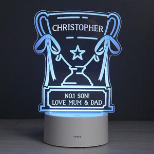 Personalised Trophy LED Colour Changing Night Light-OurPersonalisedGifts.com