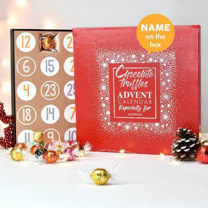 Personalised Truffles Advent Calendar-OurPersonalisedGifts.com