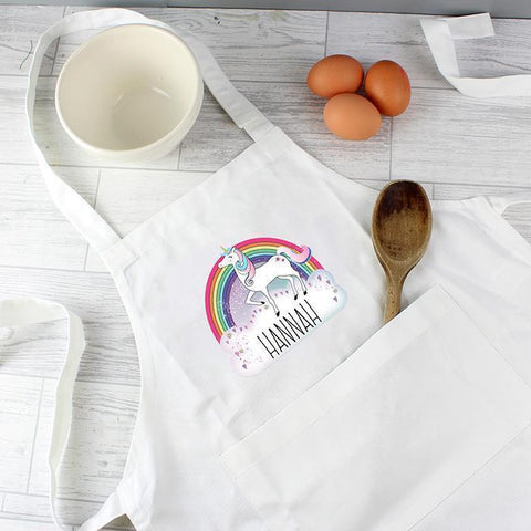 Personalised Unicorn Children's Apron-OurPersonalisedGifts.com