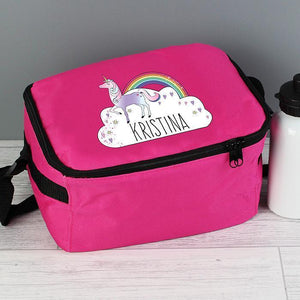 Personalised Unicorn Lunch Bag-OurPersonalisedGifts.com
