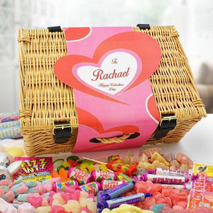 Personalised Valentine Sweet Hamper-OurPersonalisedGifts.com