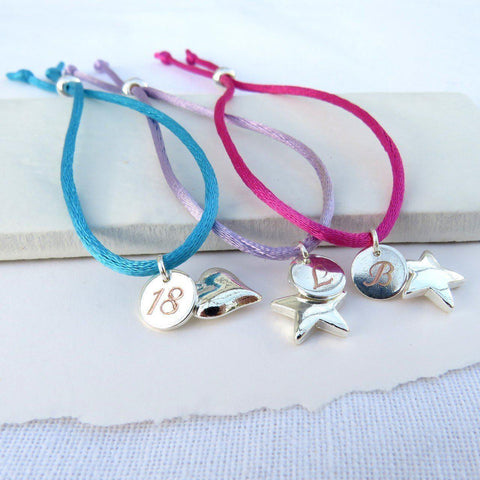Personalised Vanessa Friendship Charm Bracelet-OurPersonalisedGifts.com