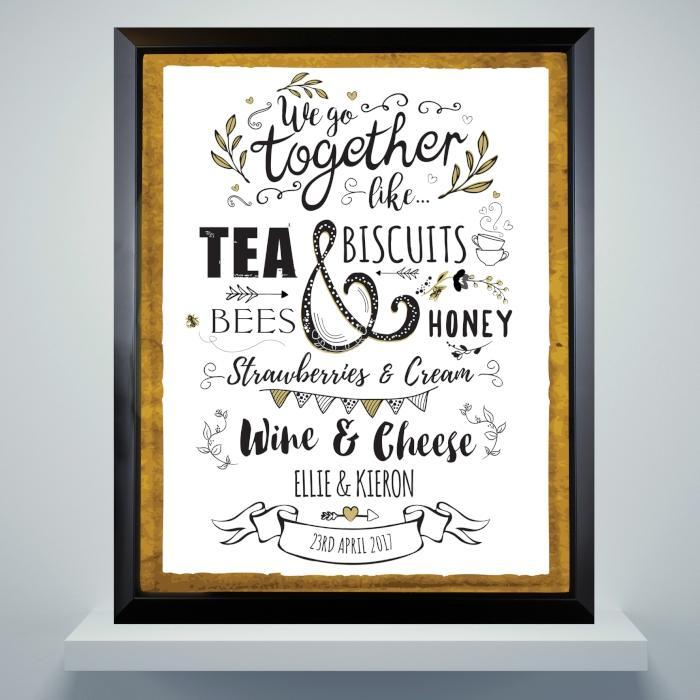 Personalised We Go Together Like Poster Frame-OurPersonalisedGifts.com