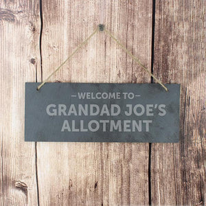 Personalised Welcome To Hanging Slate Plaque-OurPersonalisedGifts.com