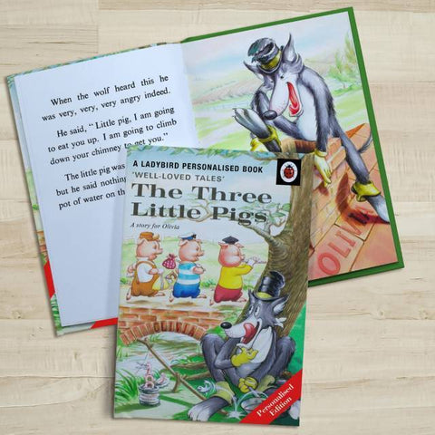 Personalised Well Loved Tales The Three Little Pigs Book-OurPersonalisedGifts.com