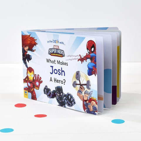 Personalised What Makes Me a Hero Marvel Board Book-OurPersonalisedGifts.com