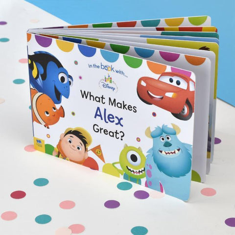 Personalised What Makes me Great Disney Pixar Board Book-OurPersonalisedGifts.com