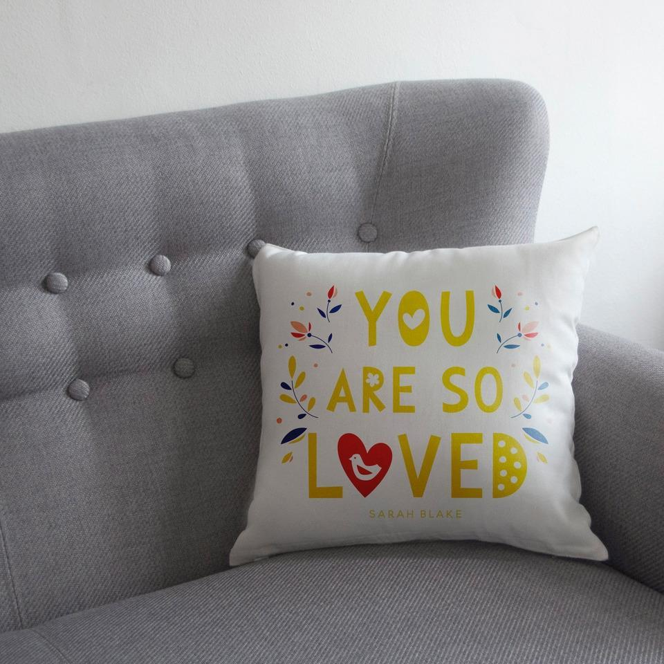 Personalised You Are So Loved Cushion-OurPersonalisedGifts.com