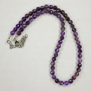 6mm Faceted Amethyst Beads