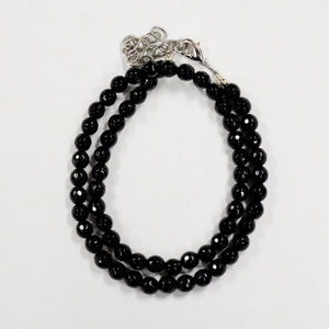 6mm Faceted Black Onyx Beads