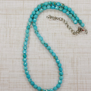 6mm Faceted Turquiose Beads