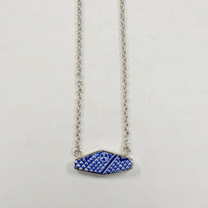 Blue Willow Bar Necklace