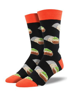 Burritos Black Men's Socks