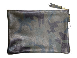Dark Camo Leather Clutch