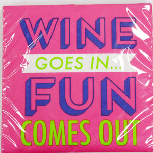 Fun Comes Out Beverage Napkins