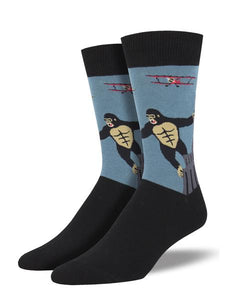 King Kong Blue Men's Socks