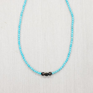 Turquoise and Pave Choker