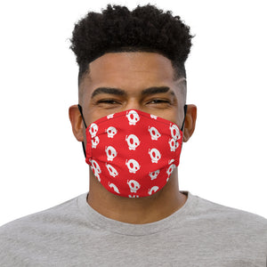 CLASSIC PU RED PREMIUM FACE MASK