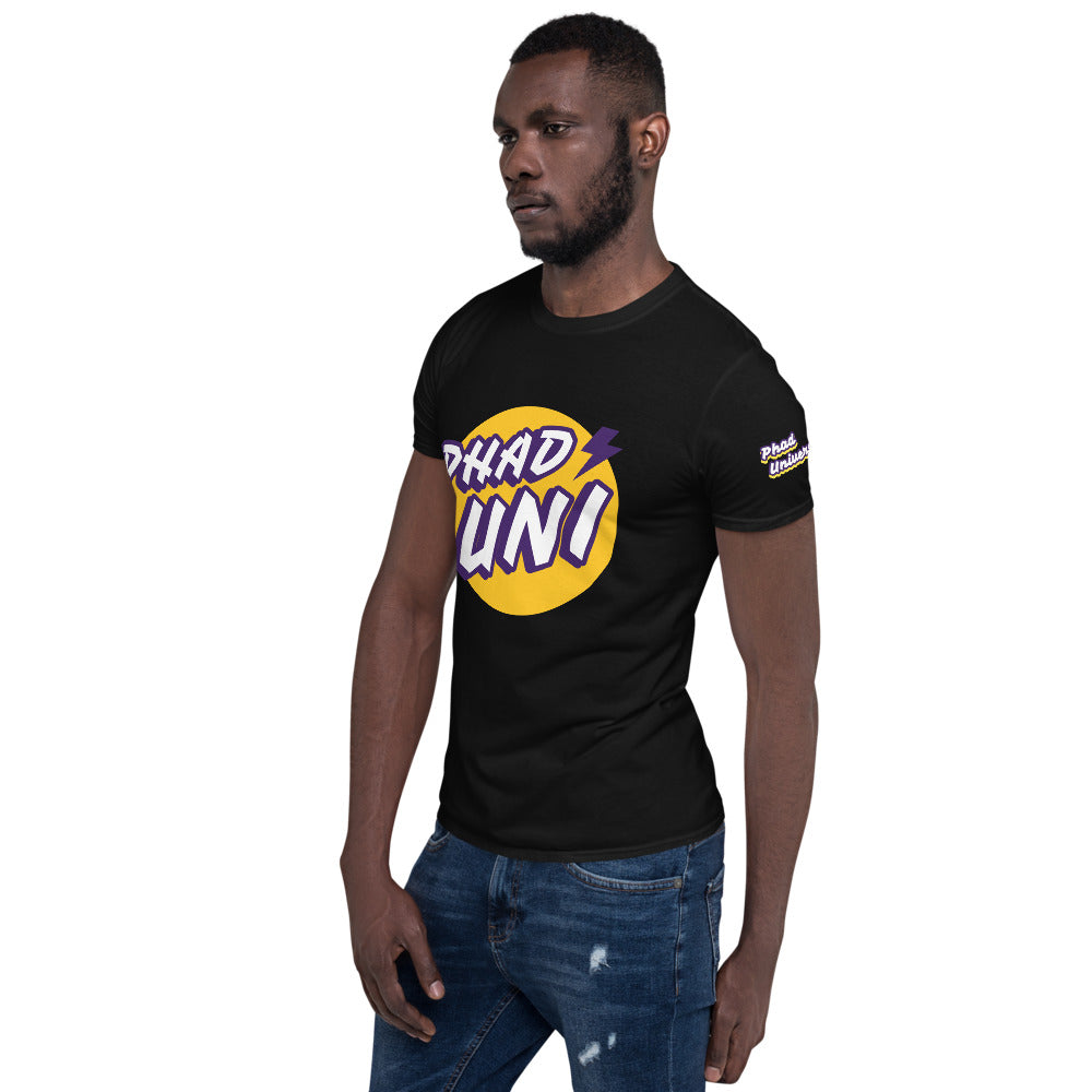 PHAD-UNI BLACK/PURPLE UNISEX TEE