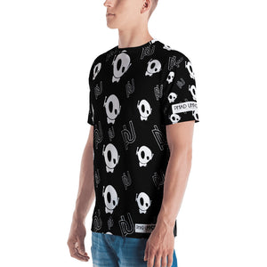 PU BLACK/WHITE ALL-OVER TEE