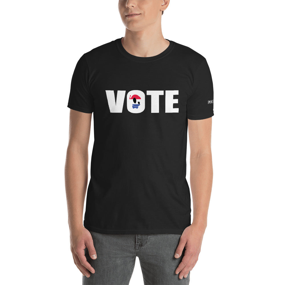 """GO VOTE"" PU BLACK TEE"