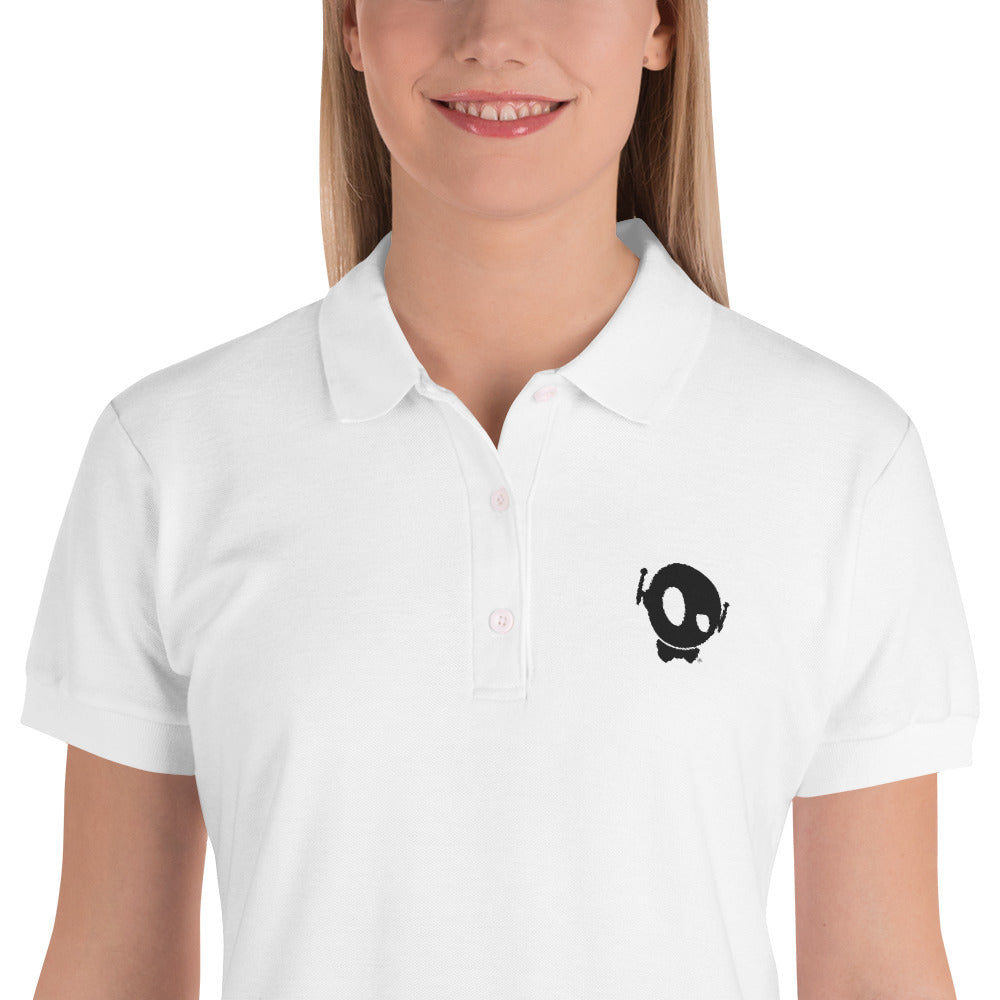 PU EMBROIDERY WOMEN POLO WHITE