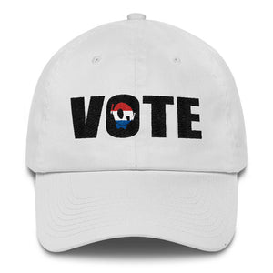 """GO VOTE"" PU WHITE DAD CAP"