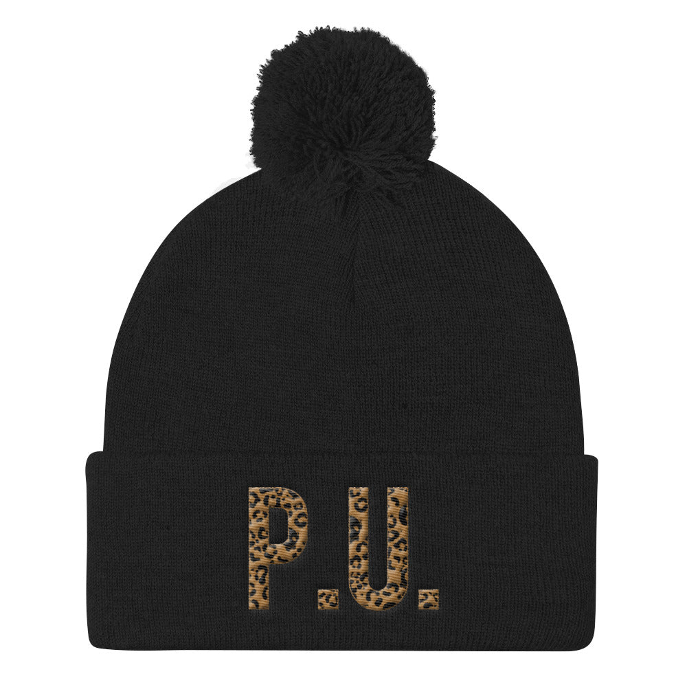 PU LEOPARD LABELED KNIT