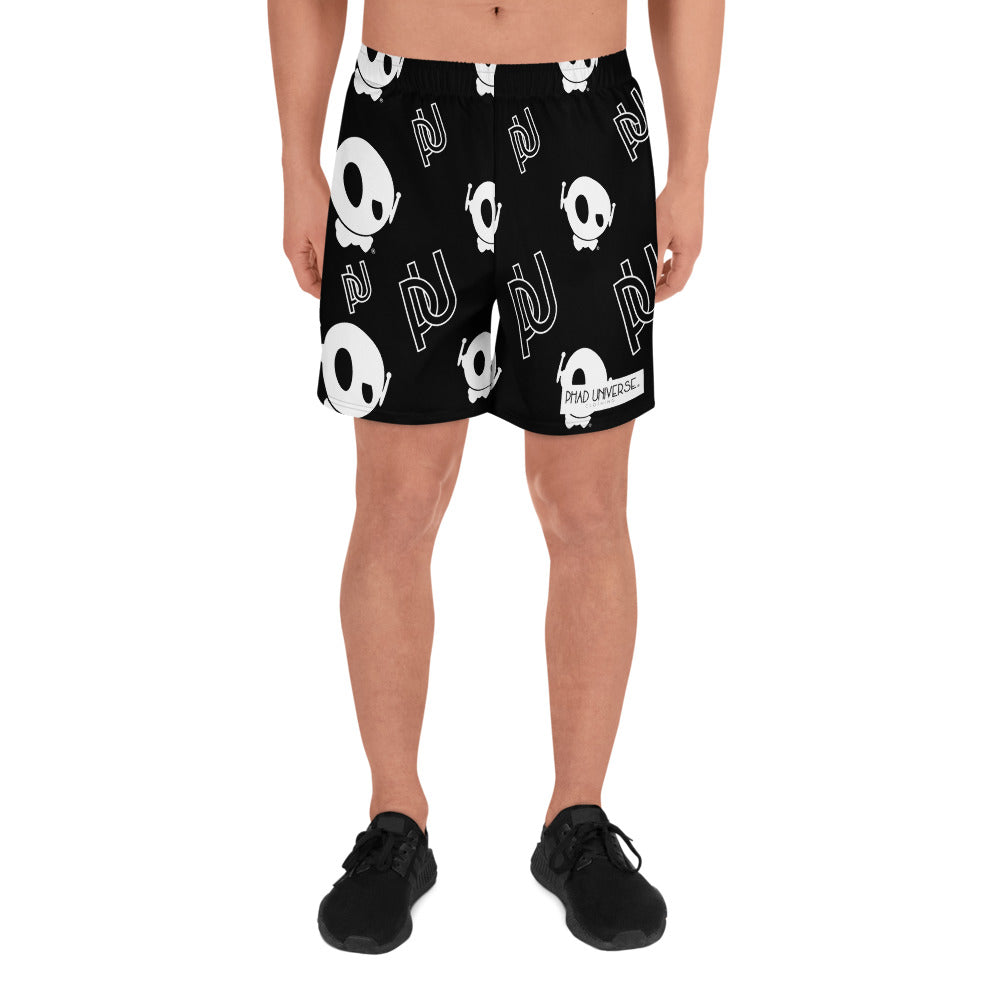 PU BLACK/WHITE ALL-OVER SHORTS