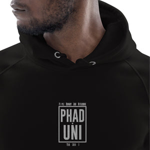 """PEOPLE HUNGRY & DETERMINE"" BLK UNISEX PULLOVER"