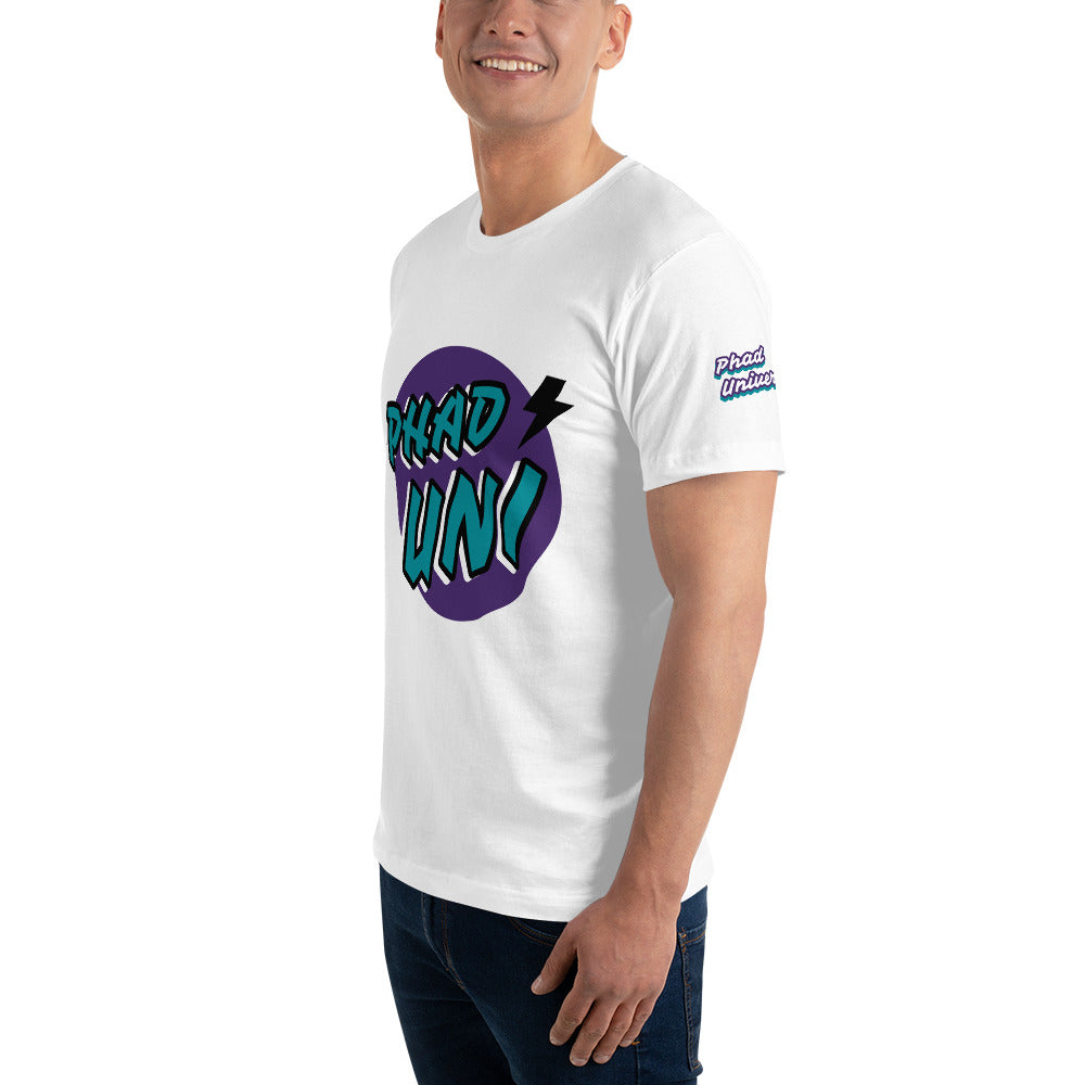 PHAD-UNI WHITE/PURPLE UNISEX TEE