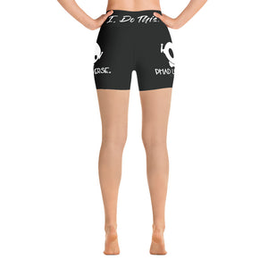 ICONIC PU BLACK YOGA SHORTS