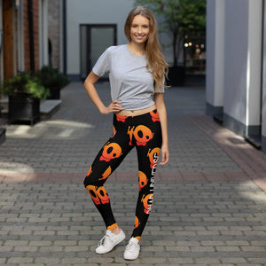 "PU ""THEY SAY I'M OFF BUT REALLY I'M ON!"" LEGGINGS"