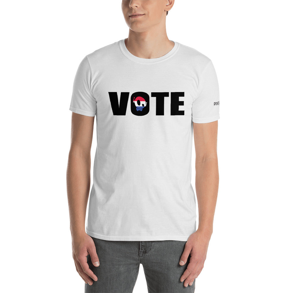 """GO VOTE"" PU WHITE TEE"