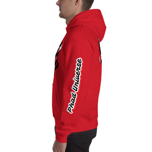 PHAD-UNI RED/BLACK UNISEX HOOD
