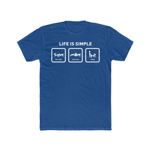 Life is Simple Cotton Crew Tee