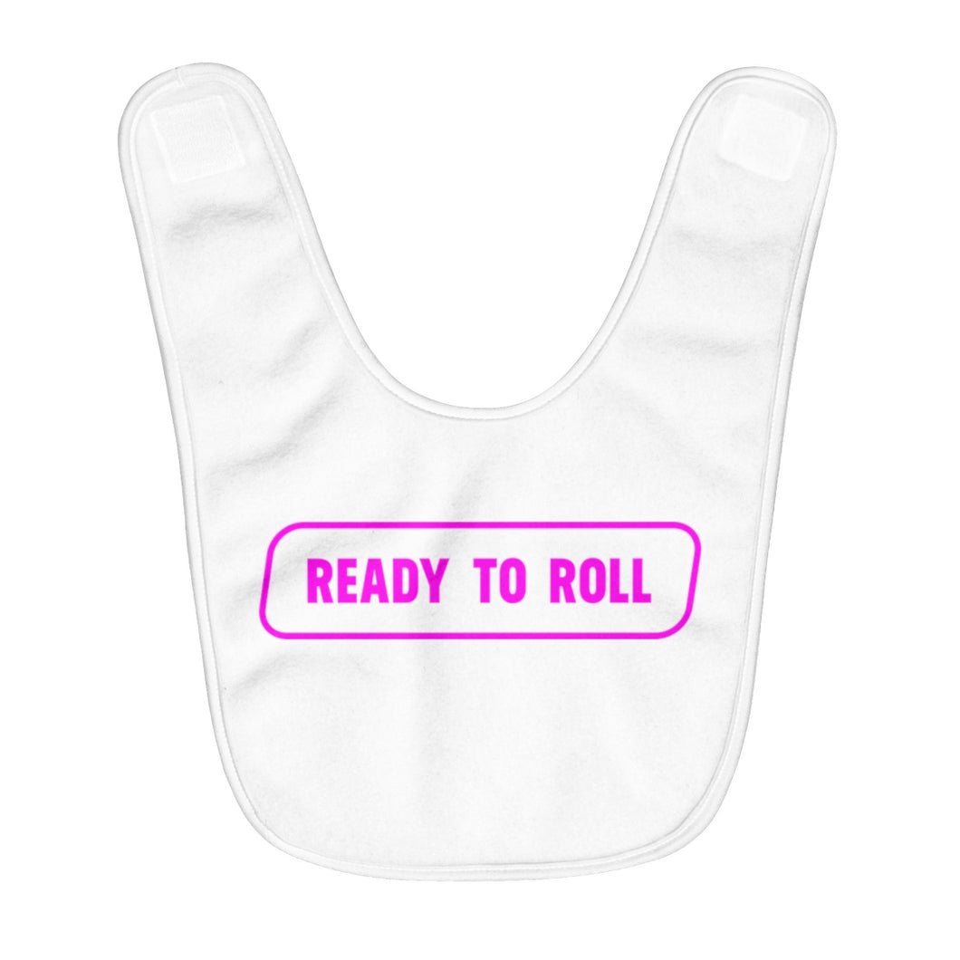 Ready to Roll Baby Girl's Bib
