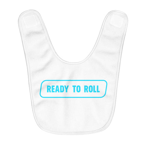 Ready to Roll Baby Boy's Bib