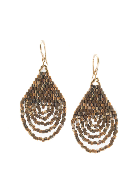 Cascade Earrings - Bronze