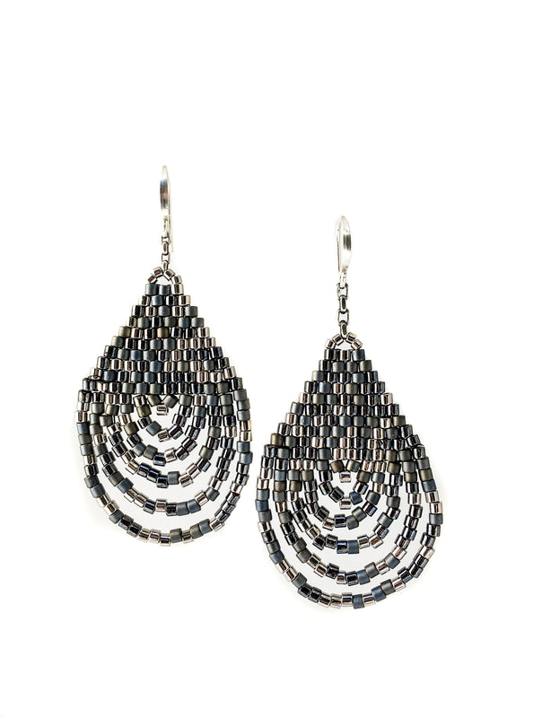 Cascade Earrings - Hematite