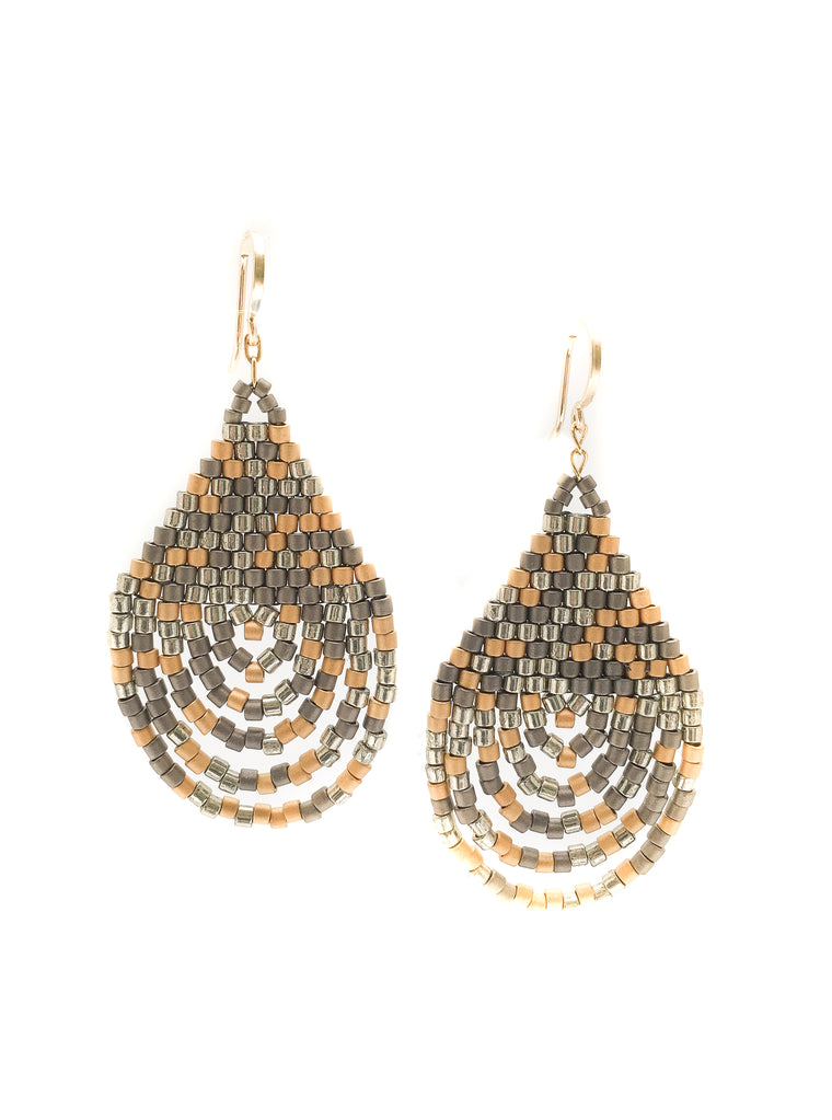 Cascade Earrings - Mixed Metal