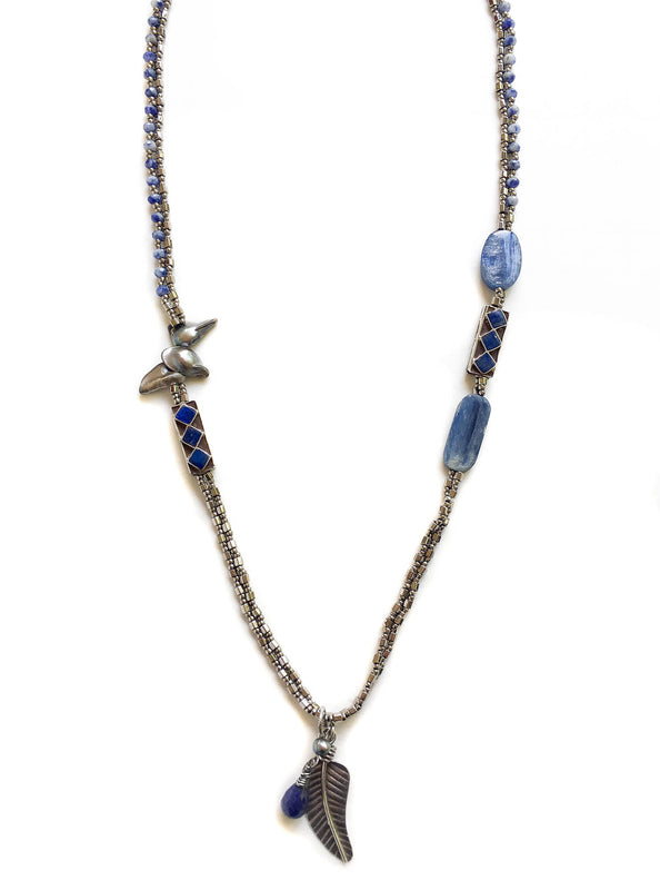 Sapphire and Kyanite Necklace