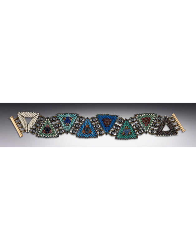 Colorful geometric statement bracelet