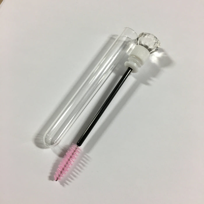 Client Mascara Brush Clear Tube Diamond End