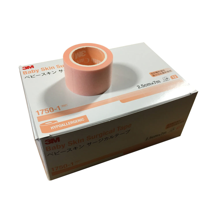 3m Baby Skin Surgical Tape 1.25cmx7m or 2.5cmx7m