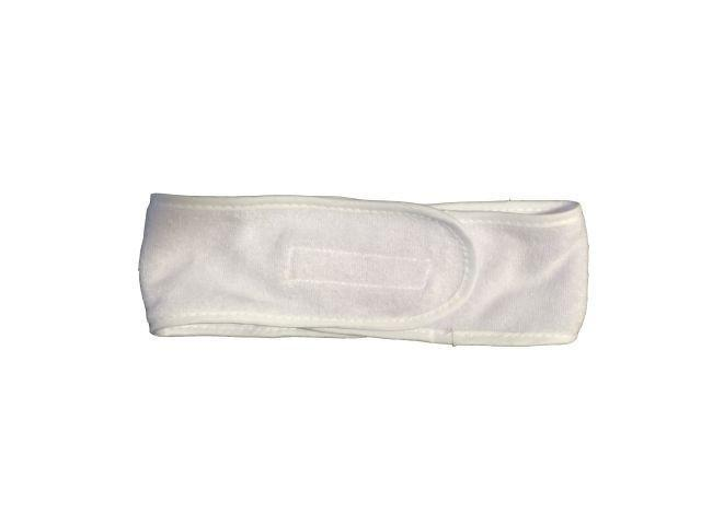 Microfiber Velcro Head Band White